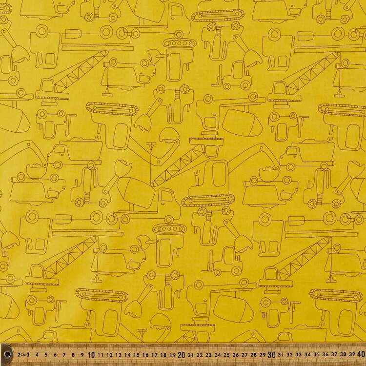 Little Tippers Printed 112 cm Poplin Fabric