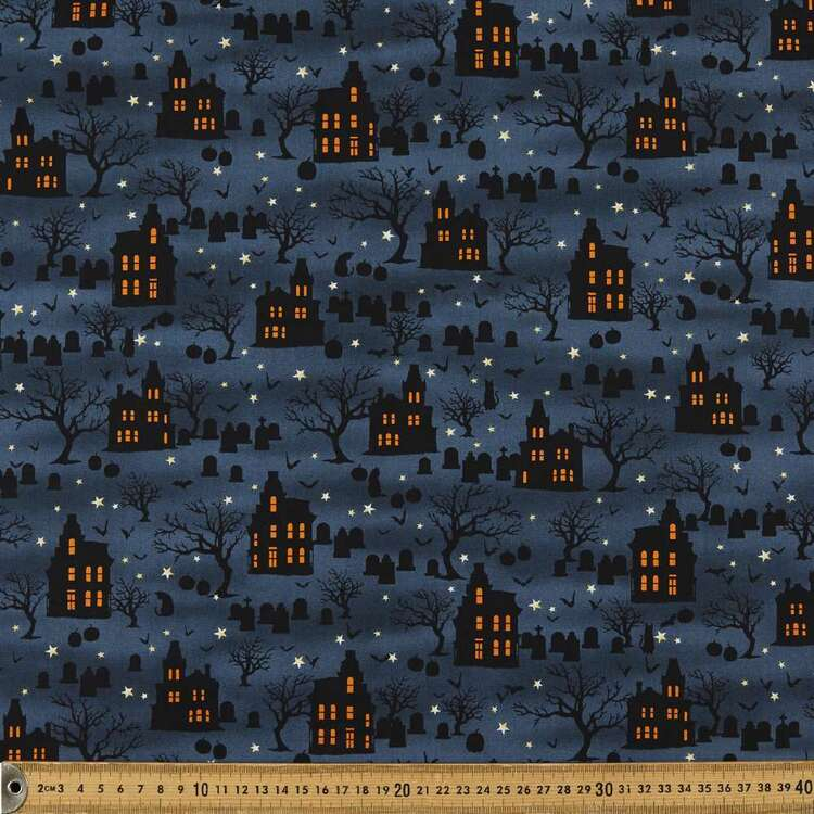 Spooky Night Spooky Houses Cotton Fabric