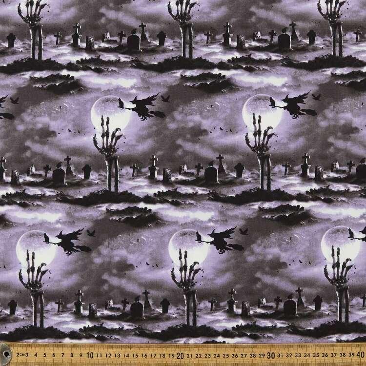 Hocus Pocus Cemetery Glow Cotton Fabric