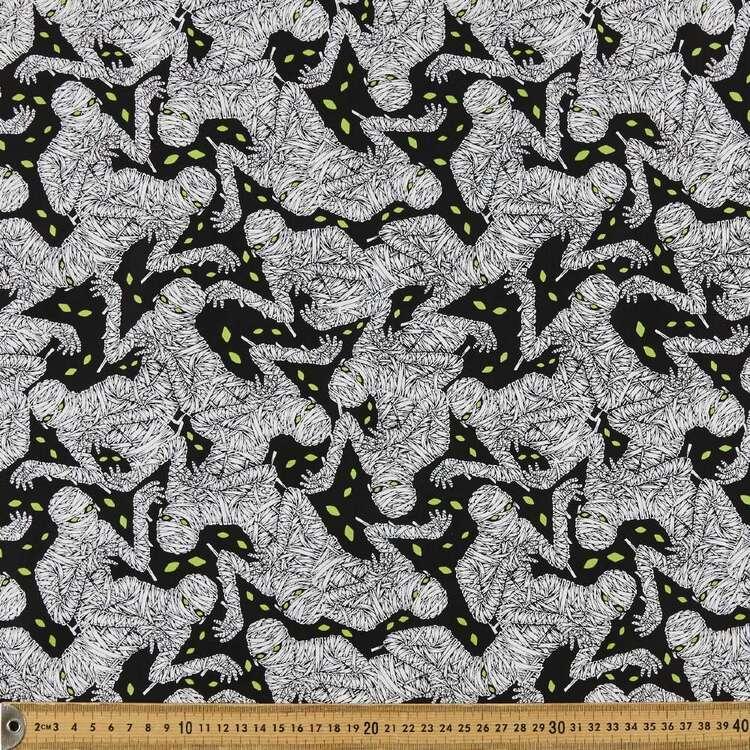 Hocus Pocus Mummies Glow Cotton Fabric