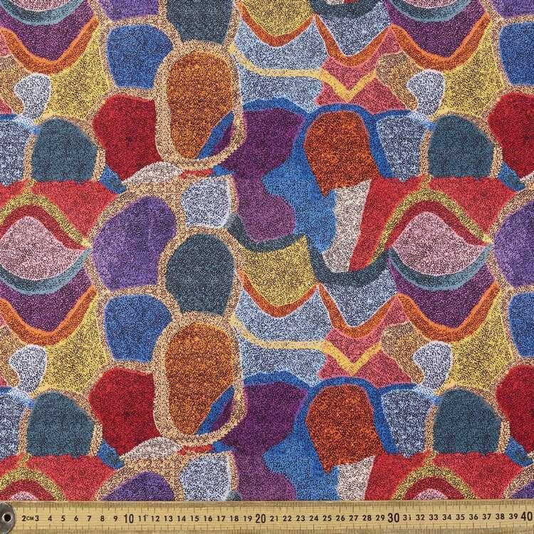 Emu Dreaming Warlu Warlu Printed 148 cm Cotton Elastane Fabric