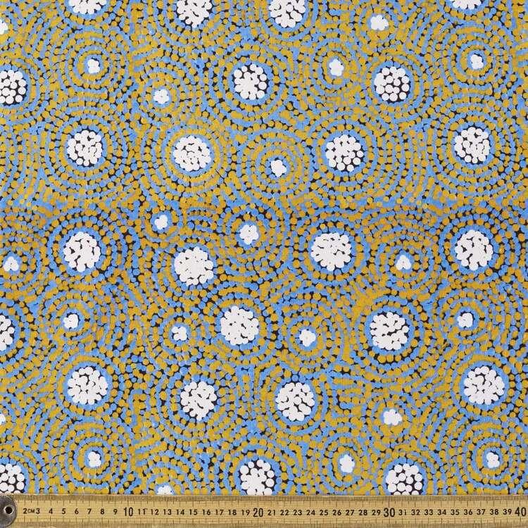Honey Ant Dreaming Warlu Warlu Printed 148 cm Cotton Elastane Fabric