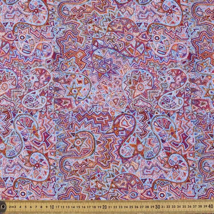 Mina Mina Dreaming Warlu Warlu Printed 148 cm Cotton Elastane Fabric