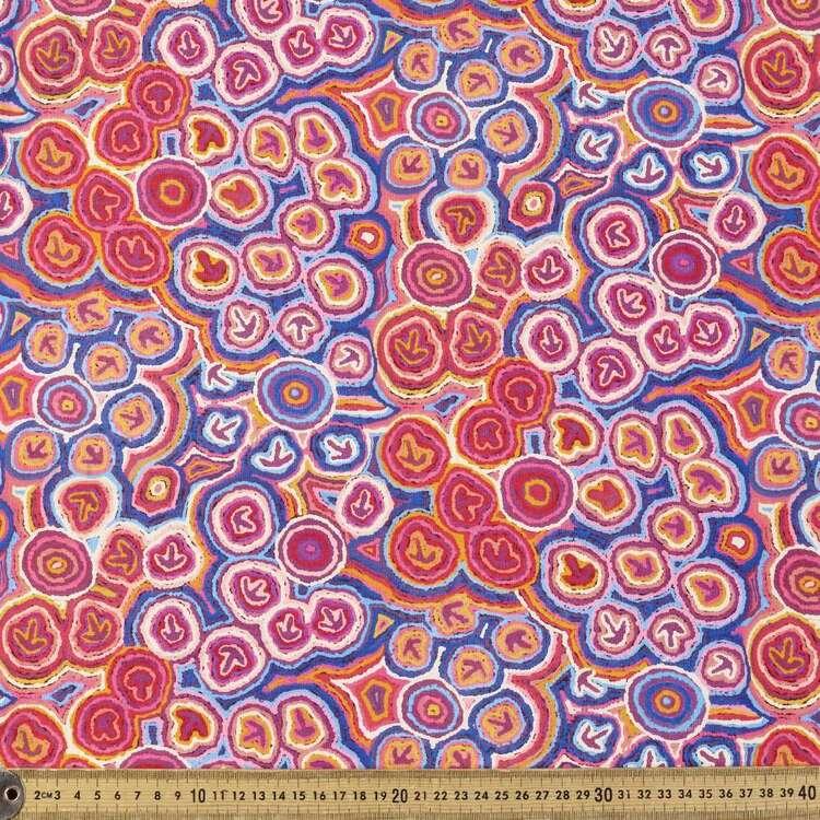 Emu Dreaming Track Warlu Warlu Printed 148 cm Cotton Elastane Fabric