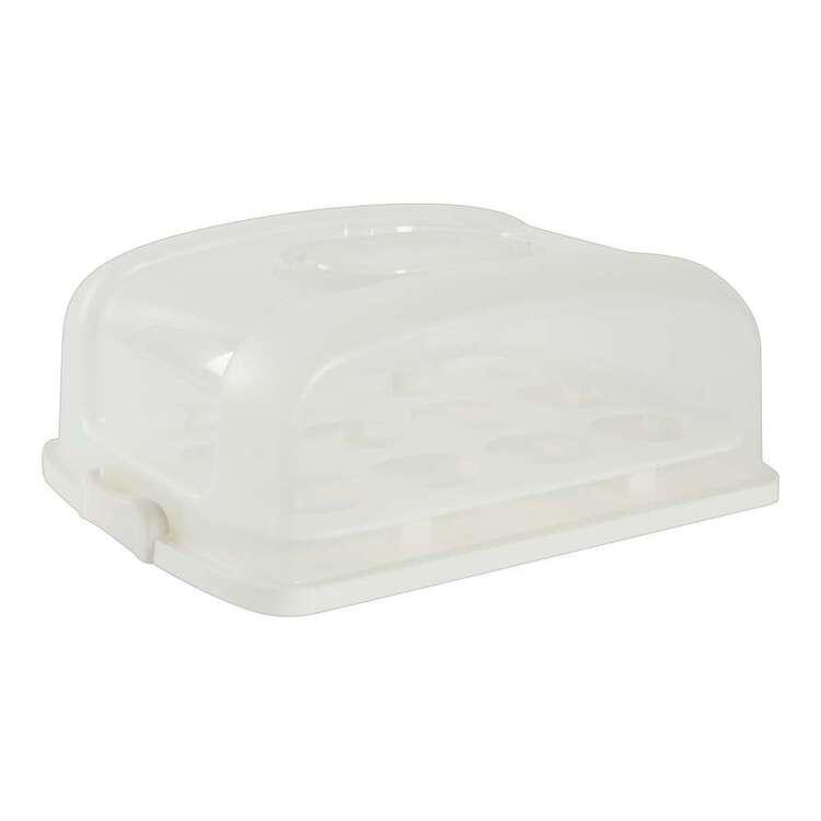 Party Creator White Rectangular Cake Box & Cupcake Carrier