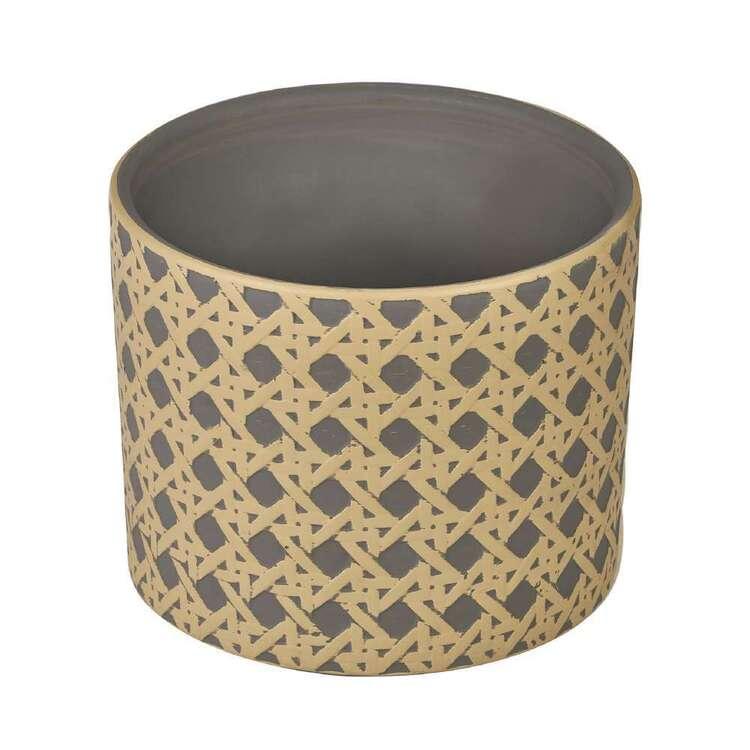 Botanica Rattan Design Ceramic Planter Pot