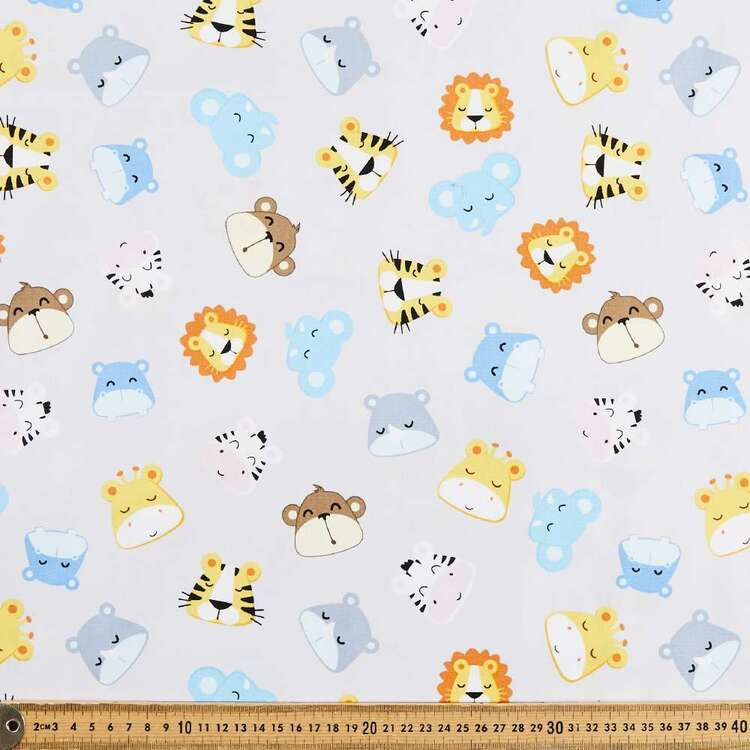 Jungle Babies All Over Cotton Fabric
