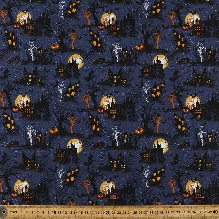 Haunted House Cotton Fabric