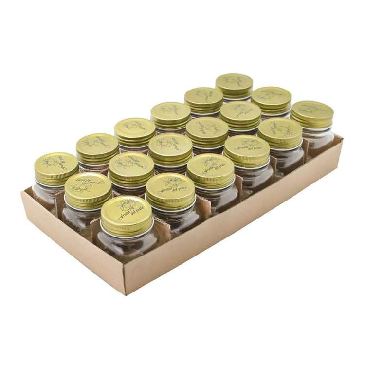 Lemon & Lime Quilted Glass 18 Pack 200 mL Conserve Jar