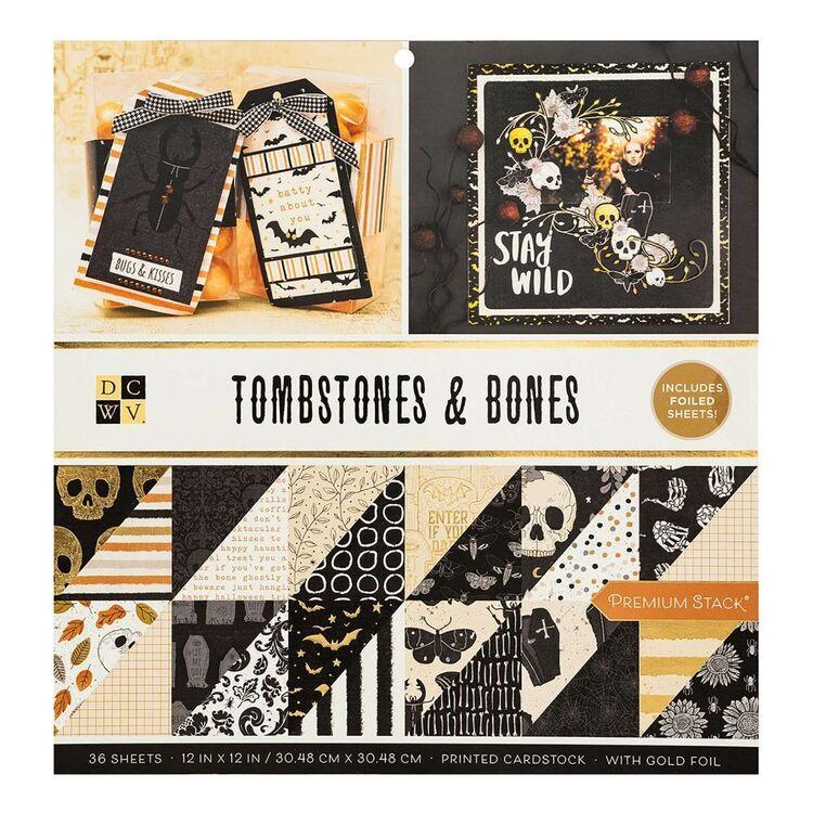 Die Cuts With A View Toombstones Bones Paper Pad