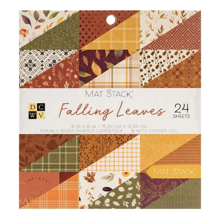 Die Cuts With A View Falling Leaves Paper Pad