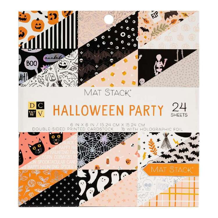 Die Cuts With A View Halloween Party 6 x 6 in Paper Pad