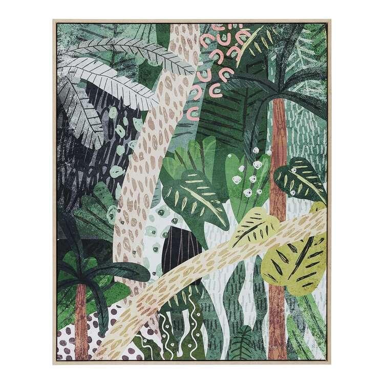 Cooper & Co Platinum Jungle Framed Canvas
