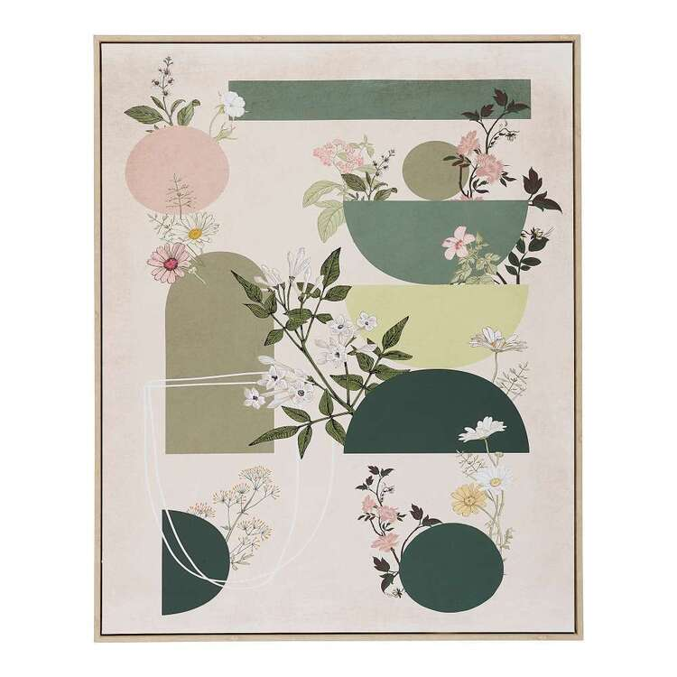 Cooper & Co Platinum Abstract Floral Framed Canvas