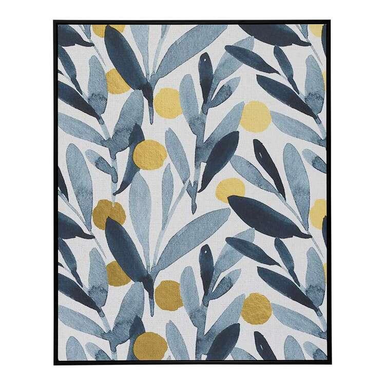 Cooper & Co Platinum Green Leaves Framed Canvas