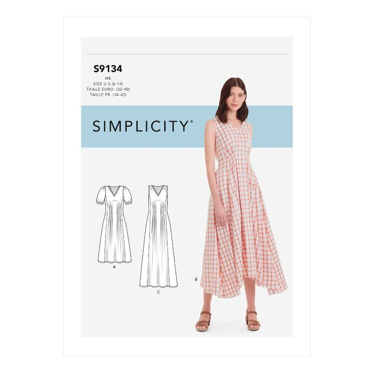 Simplicity Sewing Pattern S9134 Misses' Released Pleat Dress