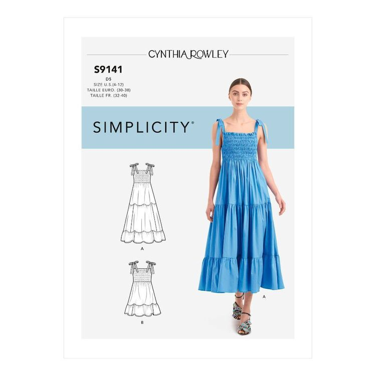 Simplicity Sewing Pattern S9141 Misses' Dress With Shirred Bodice