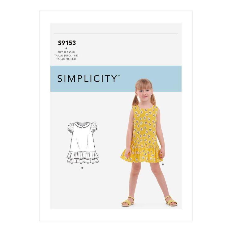 Simplicity Sewing Pattern S9153 Children's Drop Waist Dress