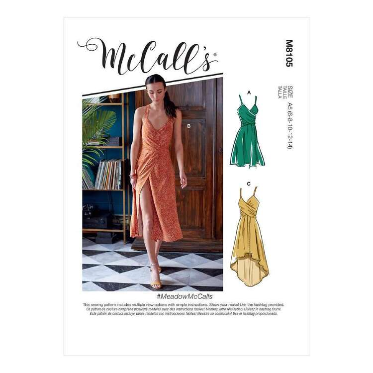 McCall's Sewing Pattern 8105 Misses' Dresses