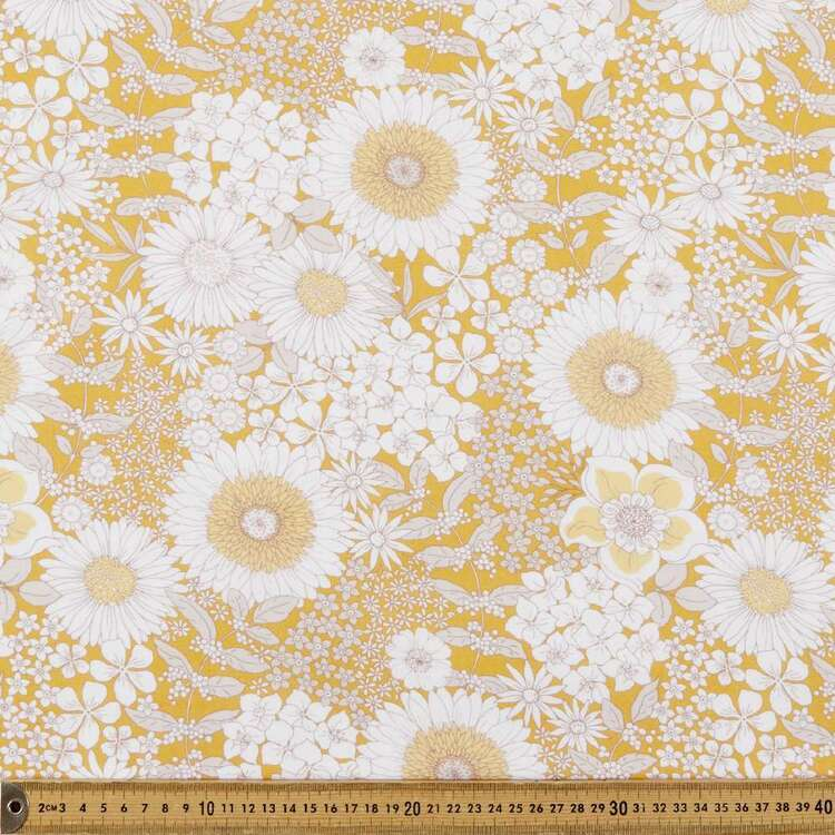 Lyla Digital Printed 112 cm Cotton Linen Fabric