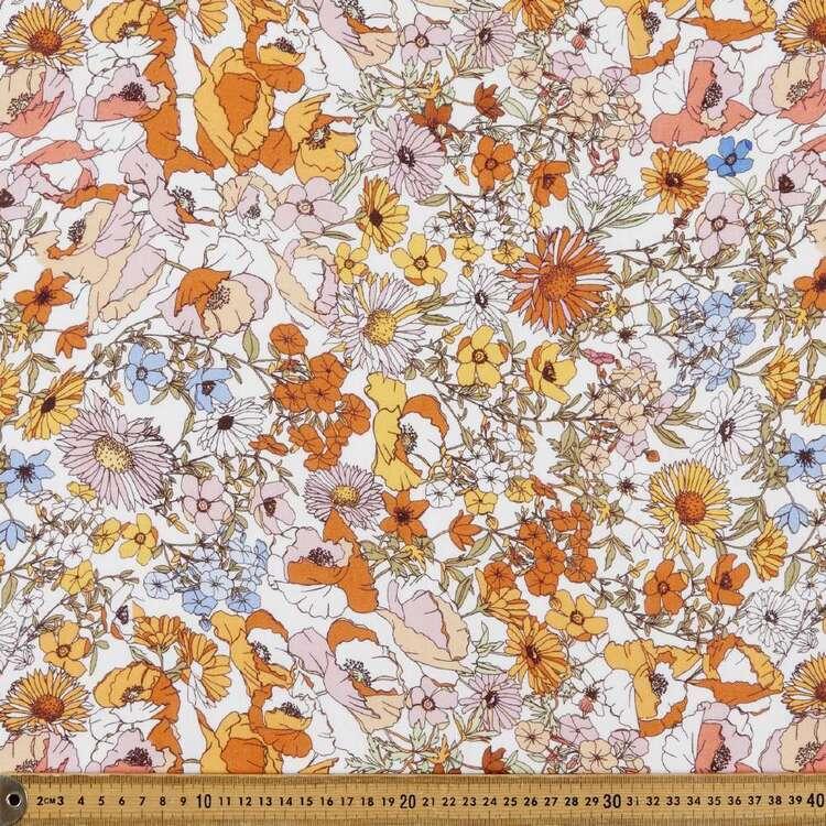 Ret Digital Printed 112 cm Cotton Linen Fabric