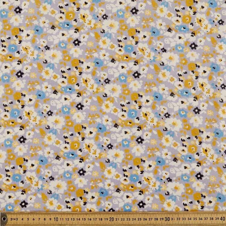 Anya Digital Printed 112 cm Cotton Linen Fabric