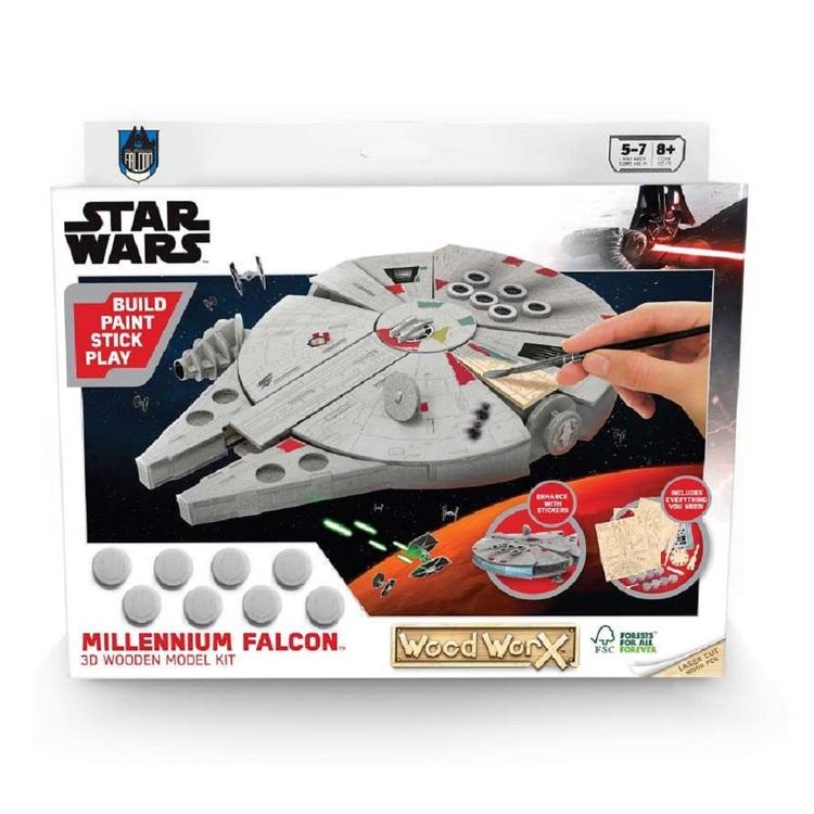 Colorific Millenium Falcon 3D Wooden Model Star Wars Kit