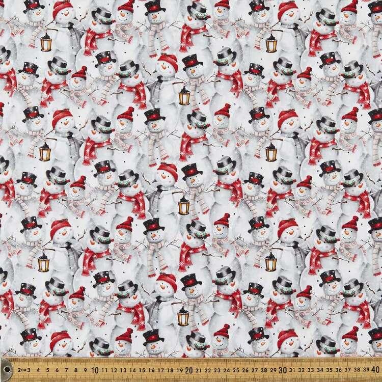 Joyful Tidings Snowman Collage Cotton Fabric
