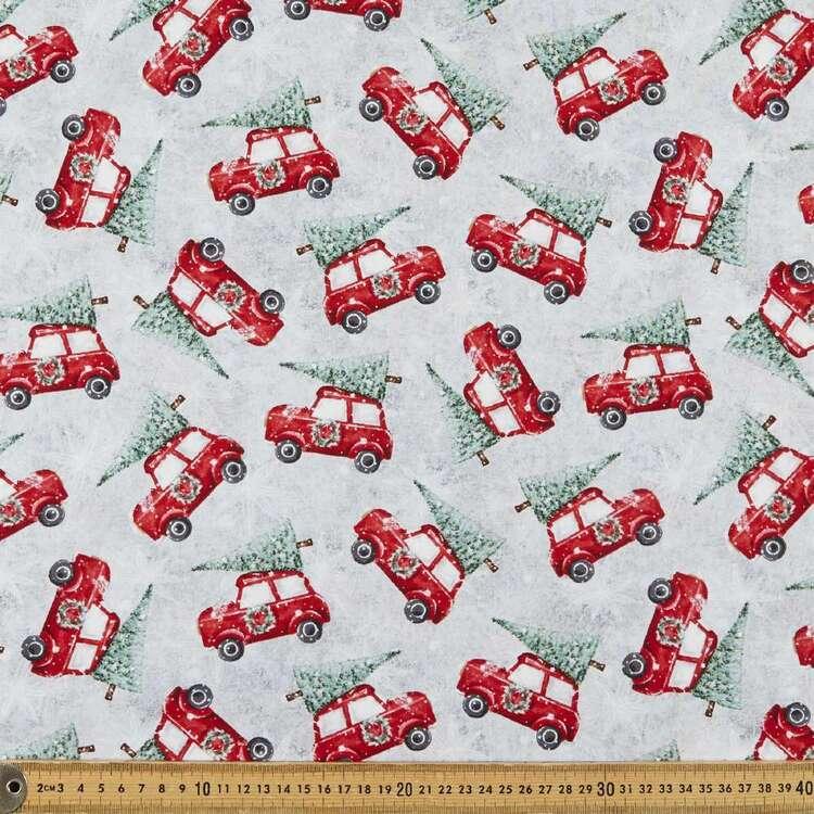 Joyful Tidings Car Christmas Tree Cotton Fabric