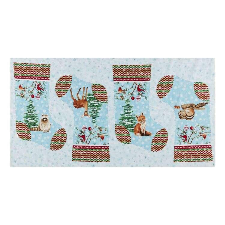 Studio E Winterwood Stocking Printed 60 cm Cotton Fabric Panel