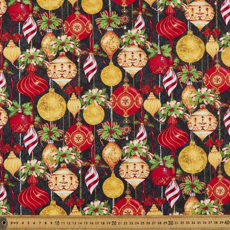Christmas Legend Allover Ornament Printed 112 cm Cotton Fabric