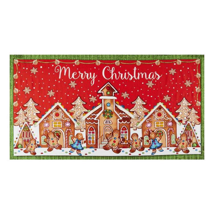 Gingerbread Factory House Printed 60 cm Cotton Fabric Panel