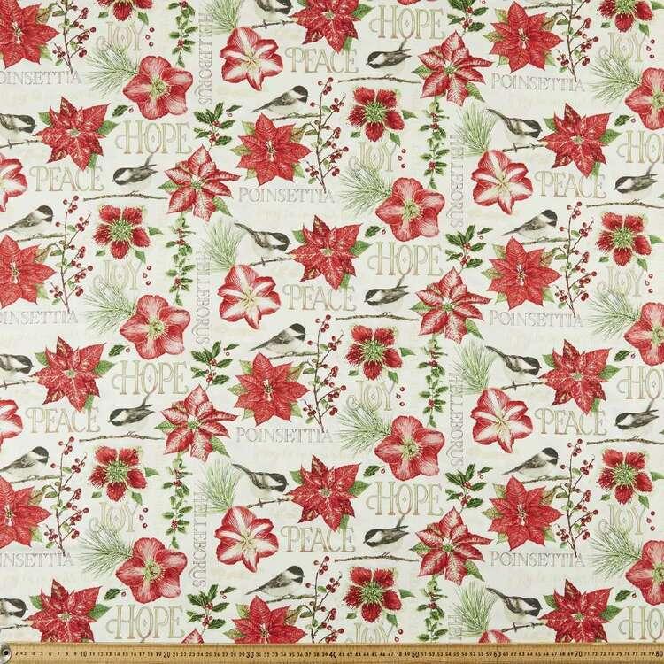 Holiday Botanic Printed 112 cm Cotton Fabric