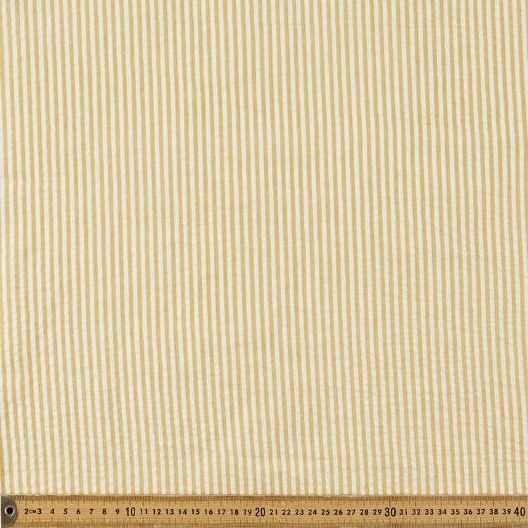 Yarn Dyed Stripe 110 cm Seersucker Fabric