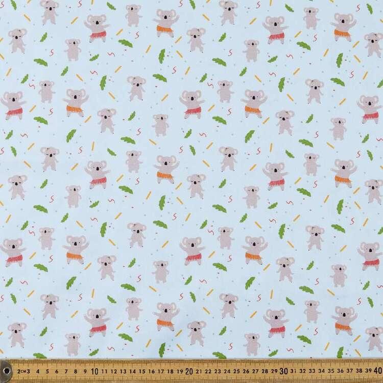 Suki McMaster Koalas Digital Printed 112 cm Cotton Montreaux Drill Fabric