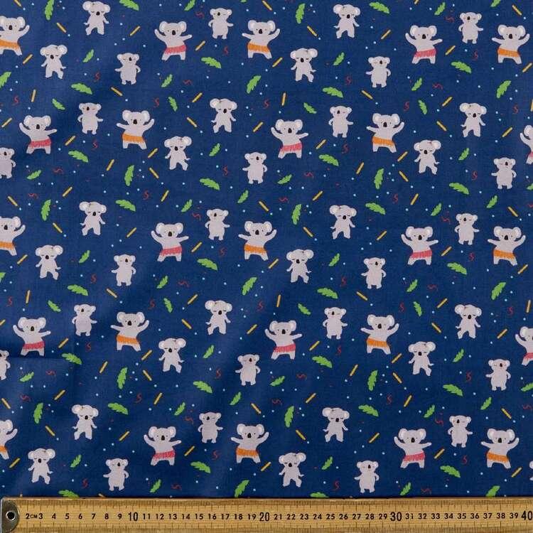 Suki McMaster Koalas Digital Printed 112 cm Cotton Poplin Fabric
