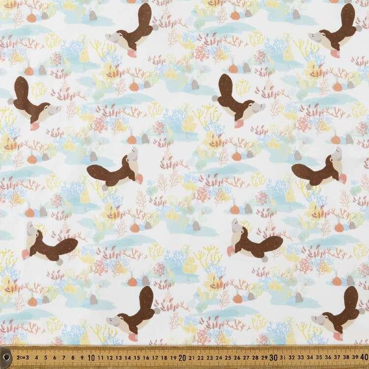 Suki McMaster Platypus Digital Printed 112 cm Cotton Poplin Fabric
