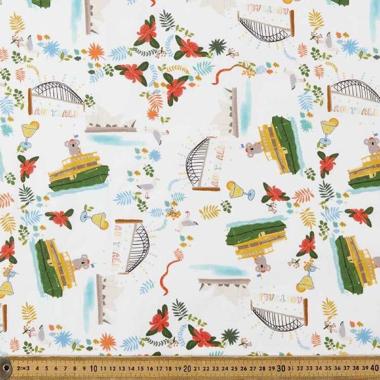 Suki McMaster Koala Ferry Digital Printed 112 cm Cotton Poplin Fabric