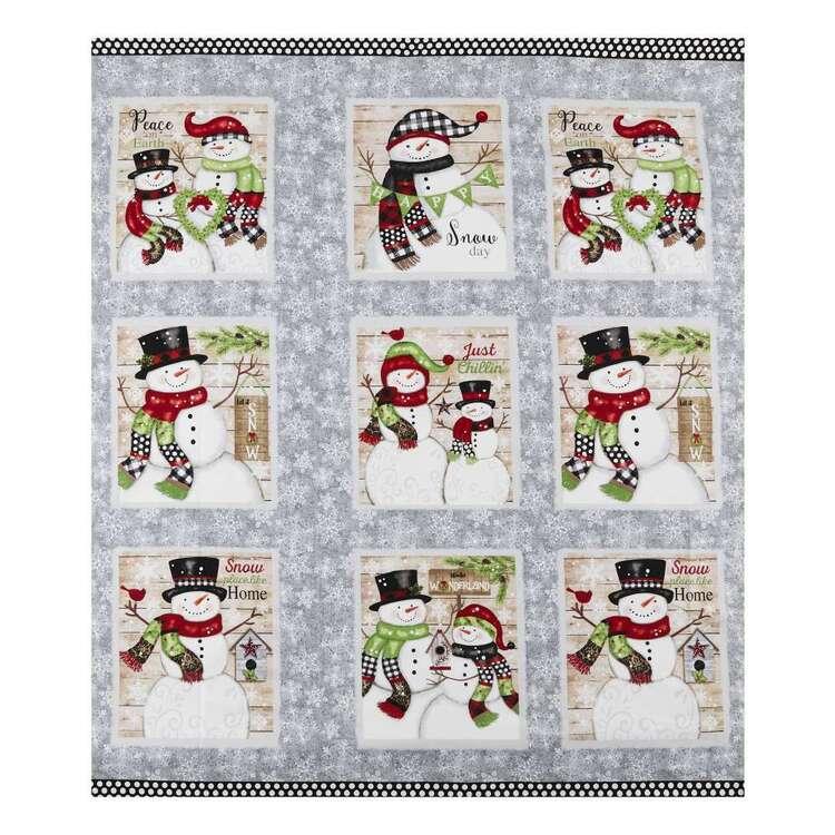 Studio E Winterwood Snow Place Like Home Printed 60 cm Cotton Fabric Panel