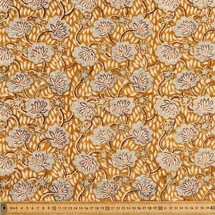 Splendour Printed 112 cm Vegetable Dye Cotton Fabric