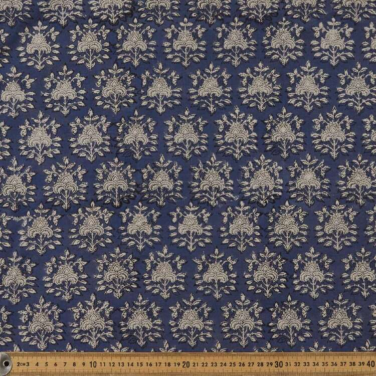 HallFest Printed 112 cm Vegetable Dyed Cotton Fabric