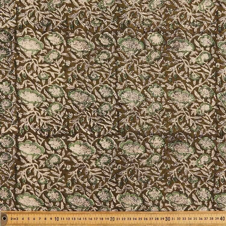 Meadows Printed 112 cm Vegetable Dye Cotton Fabric