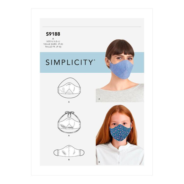 Simplicity Sewing Pattern S9188 Family Face Masks