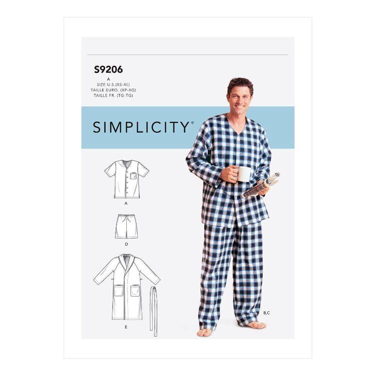 Simplicity Sewing Pattern S9206 Men's Robe, Belt, Tops, Pants & Shorts