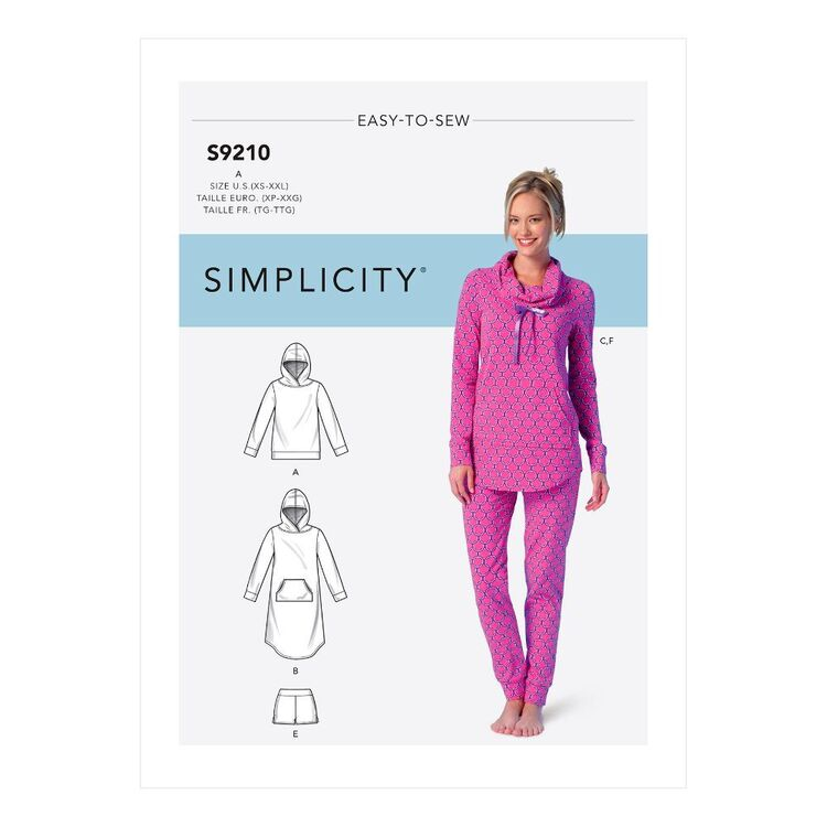 Simplicity Sewing Pattern S9210 Misses' Tops, Dress, Shorts, Pants & Slippers