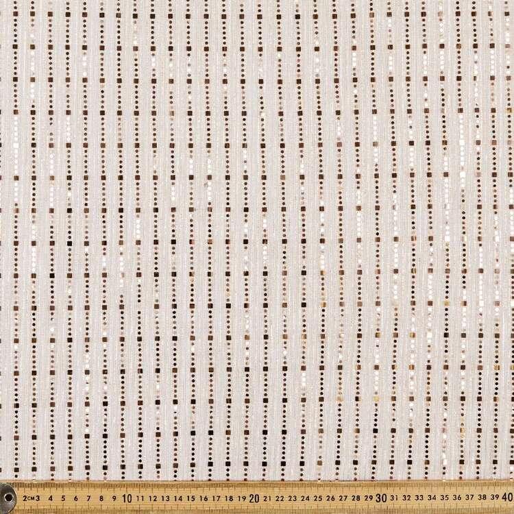 Studio Sequins Printed 145 cm Metallic Polyester Crinkle Mesh Fabric