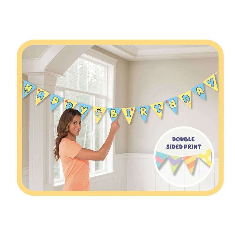 Bluey Paper Bunting Banner