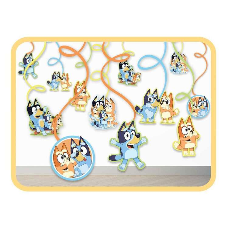 Bluey Spiral Decorations 12 Pack