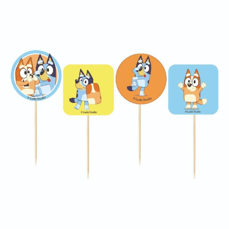 Bluey Cupcake Picks 24 Pack