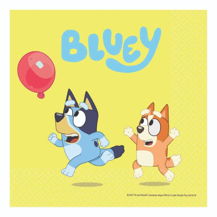 Bluey Lunch Napkins 16 Pack